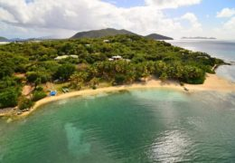 aerial-well-bay-beach-surfsong-villa-resort-bvi